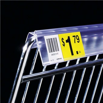 Label Holder Strip for Wire Basket