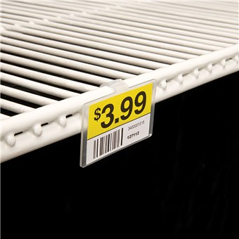 Fold-N-Hold Label Holders for Double Wire Shelf (25 CT)