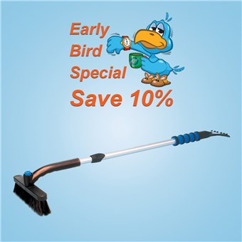 Twist-Lock Snow Broom (14 CT) - EARLY BIRD
