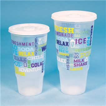 Plastic Cold Cups with Lids