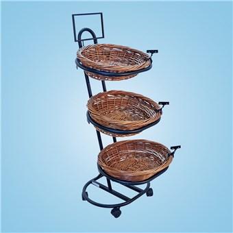 3-Basket Deluxe Merchandiser