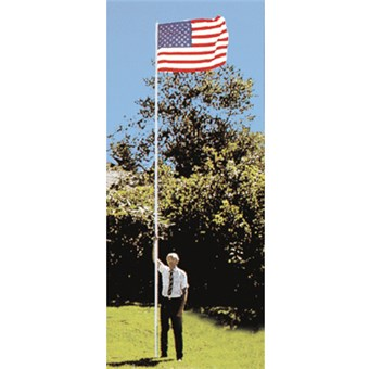 In-Ground Flagpole Kit with U.S. Flag