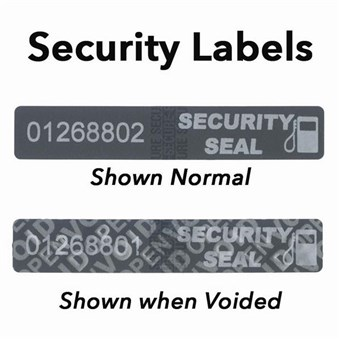 Gas Pump Security Labels (50 CT)