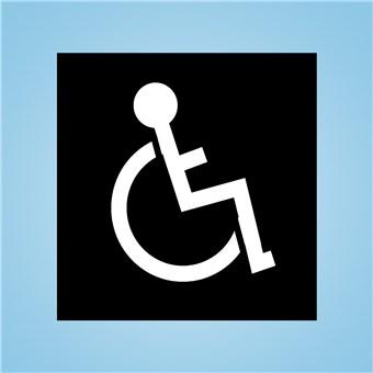 Handicap Driveway Stencil