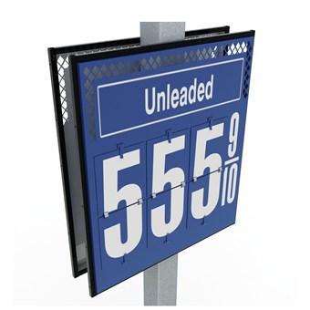Fuel Price Flip Sign - Pole Mount