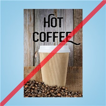 Flex Curb Sign - HOT COFFEE
