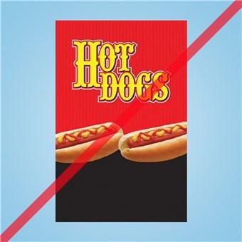 Flex Curb Sign - HOT DOGS