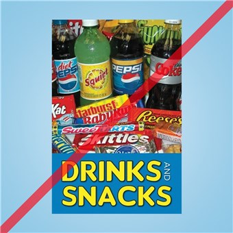 Flex Curb Sign - DRINKS AND SNACKS