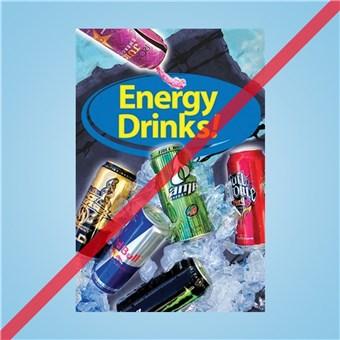 Flex Curb Sign - ENERGY DRINKS