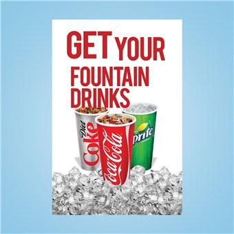 Flex Curb Sign - FOUNTAIN DRINKS