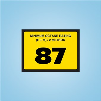Standard Octane Rating Decal