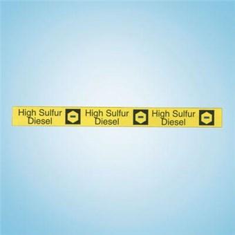 Filler Pipe ID Band - HIGH SULFUR DIESEL