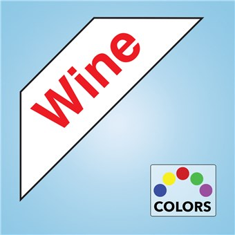 Corner Cooler Decal - WINE