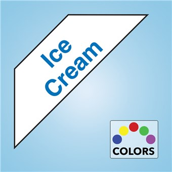 Corner Cooler Decal - ICE CREAM