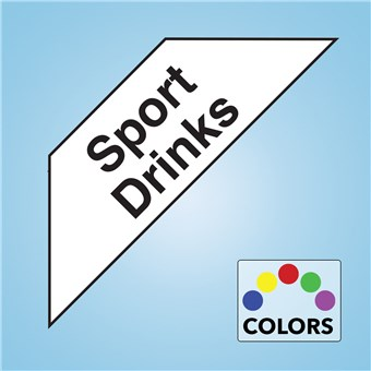 Corner Cooler Decal - SPORT DRINKS
