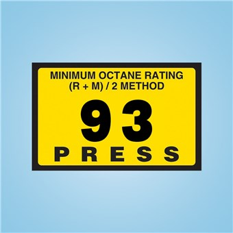Gilbarco Advantage - Octane Rating Decal