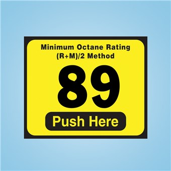 Wayne Vista - Octane Rating Decal
