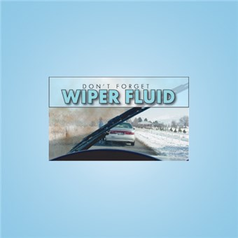 Pump Topper Insert - WIPER FLUID