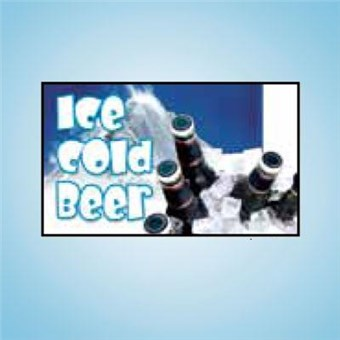 Pump Topper Insert - ICE COLD BEER