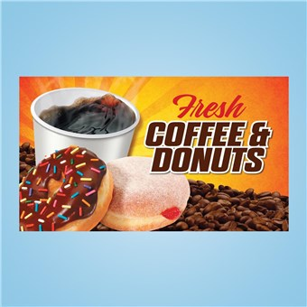 Pump Topper Insert - COFFEE  & DONUTS