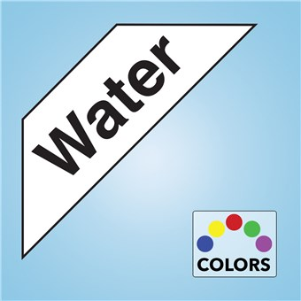 Corner Cooler Decal - WATER