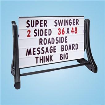 Roadside Swinger Message Sign