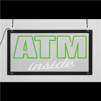 Clear LED Sign - ATM INSIDE