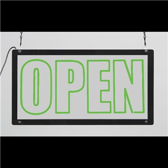 Clear LED Sign - OPEN