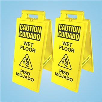 Wet Floor Signs - English/Spanish (2 CT)