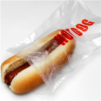 Clear Hot Dog Bags - Saddle Pack (2000 CT)