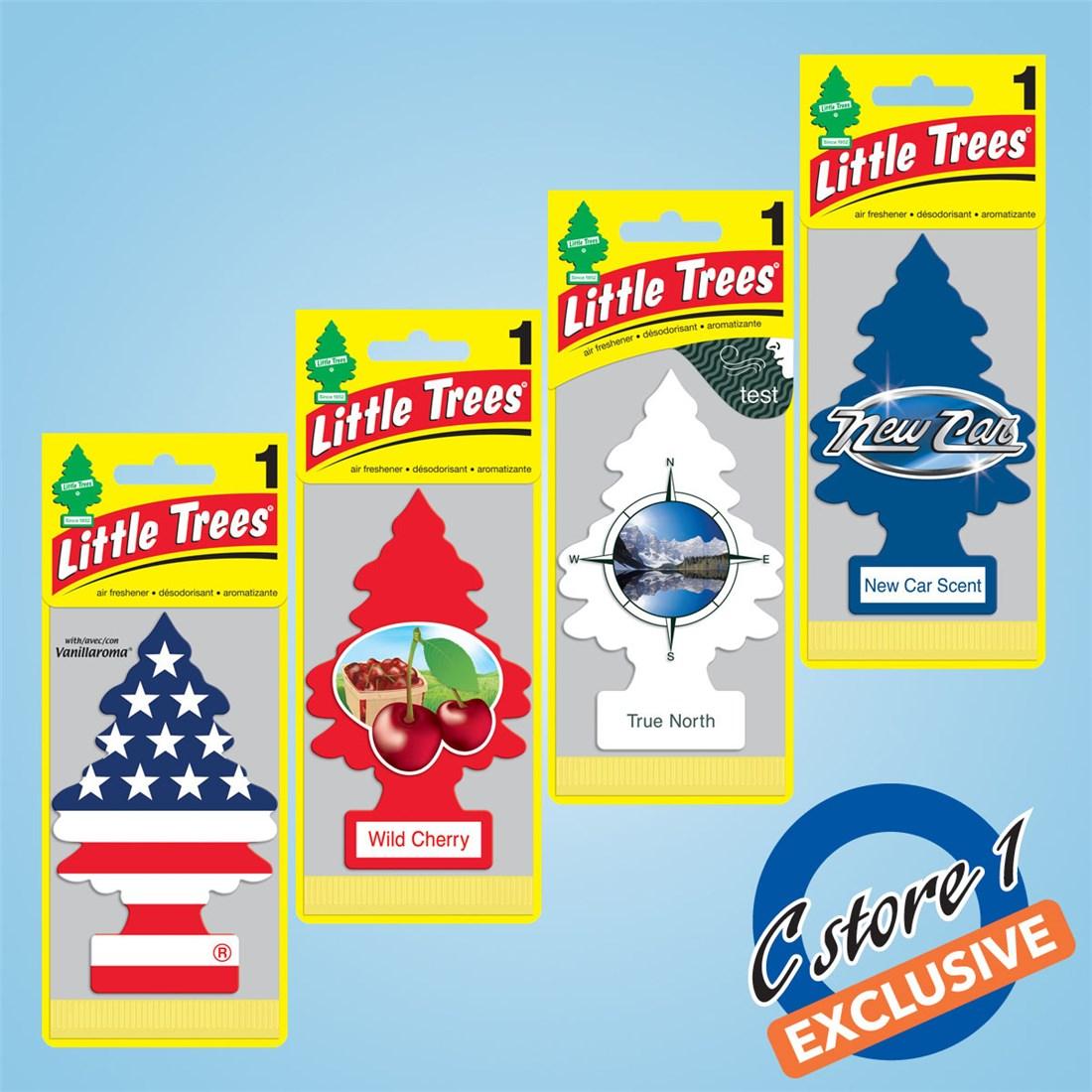 Little Trees Air Freshener Assortment Red White Blue Cstore1